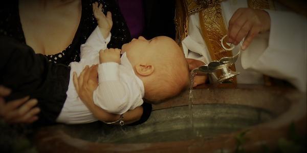chabrowy garnitur do chrztu
