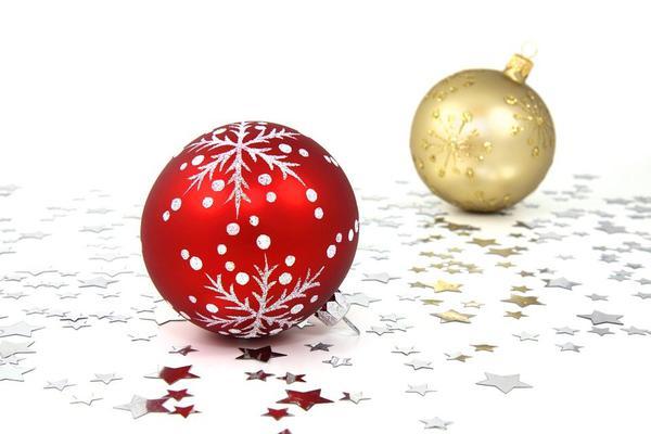 Szklane ozdoby świąteczne